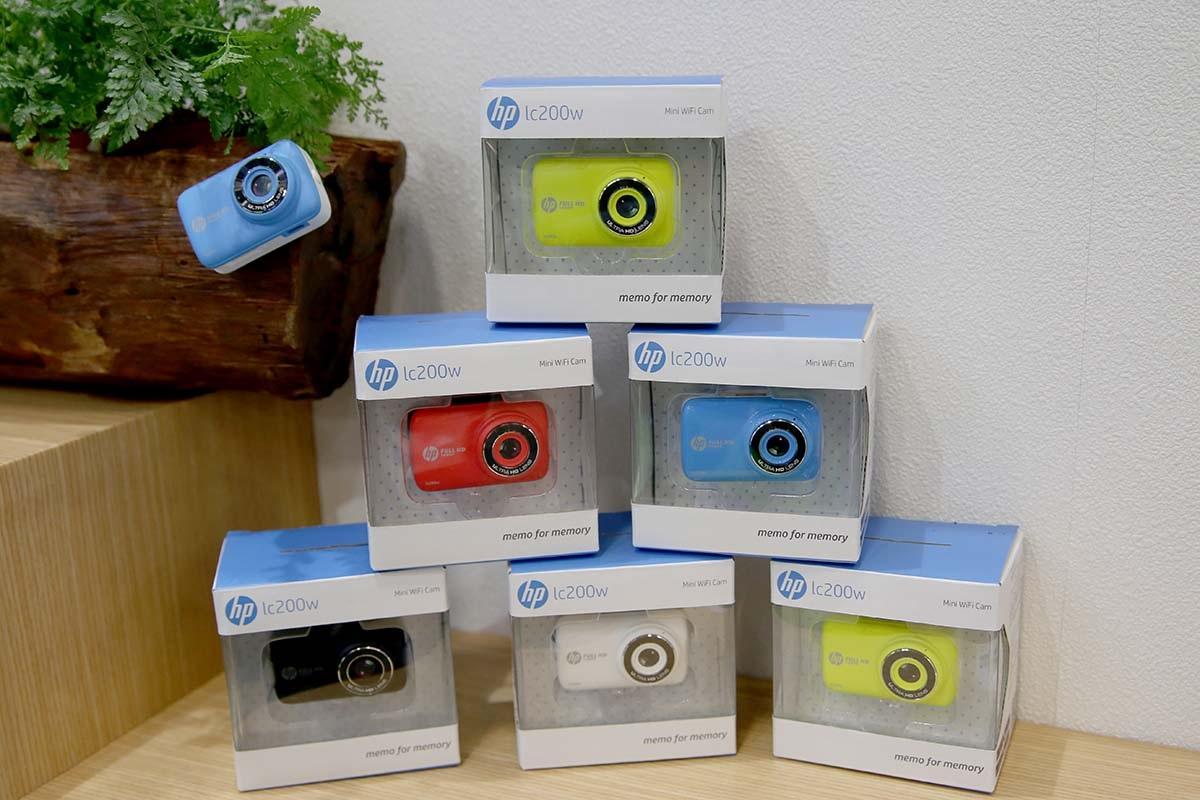 HP Mini Wifi Cam LC200W có nhiều màu sắc để lựa chọn