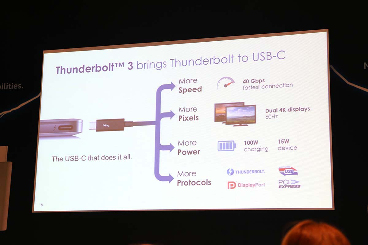 Ông Jason Ziller, Giám đốc Tiếp thị Thunderbolt của Intel giới thiệu