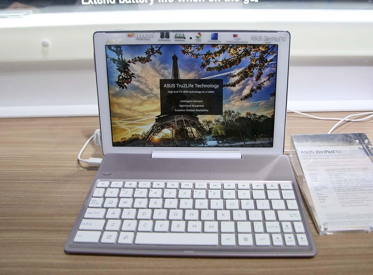ZenPad 10 là một chiếc tablet Android 5.0 tích hợp phím bấm rời
