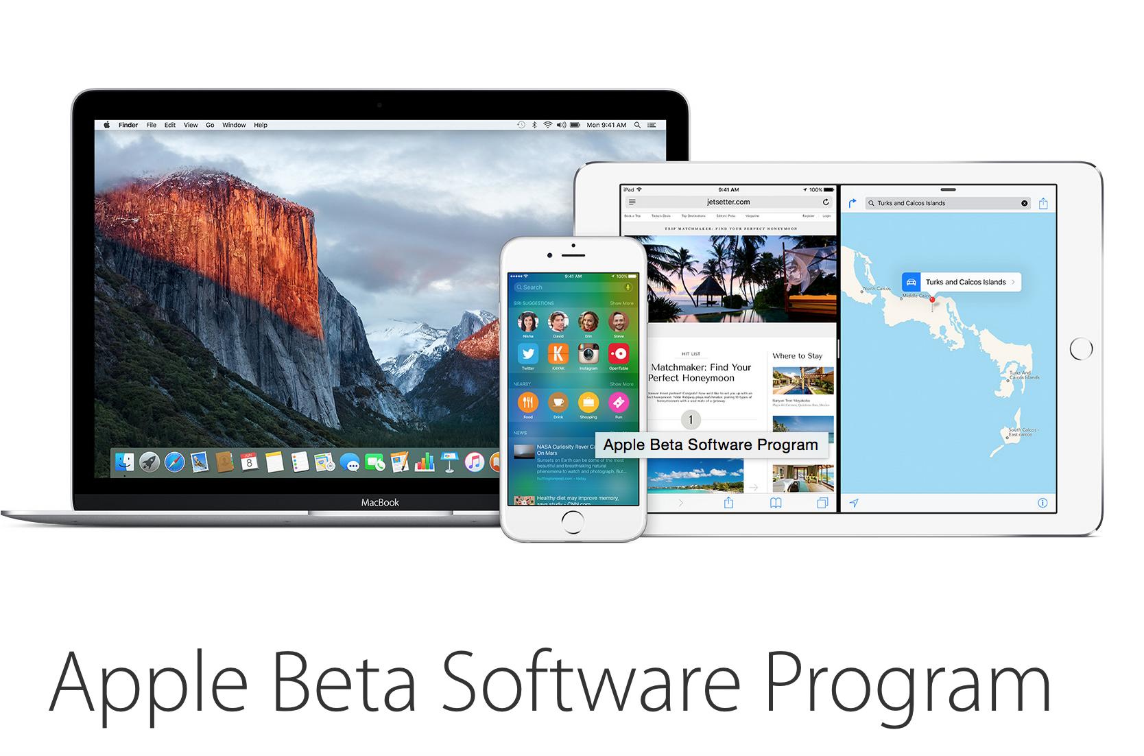 [Tải về]- Apple tung bản iOS 9 beta và OS X 10.11 beta cho mọi người dùng