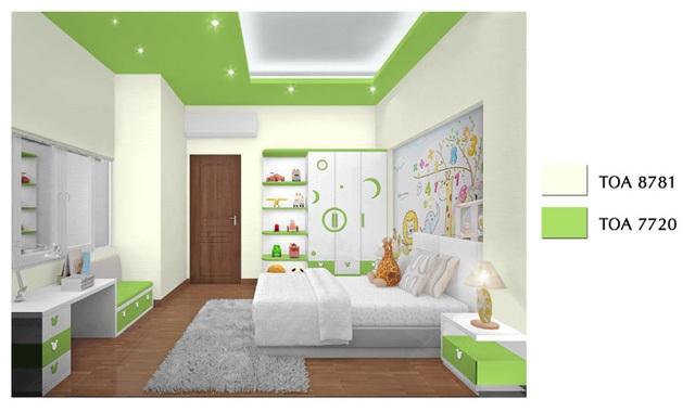 Gia chủ nên sử dụng sơn không chứa chì, thủy ngân, nồng độ VOCs thấp để bảo vệ sức khỏe các thành viên trong gia đình.