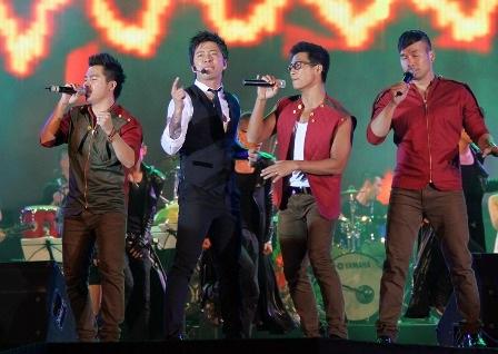 Lần đầu tiên nhóm nhạc MTV là khách mời trong đêm nhạc của Tuấn Hưng