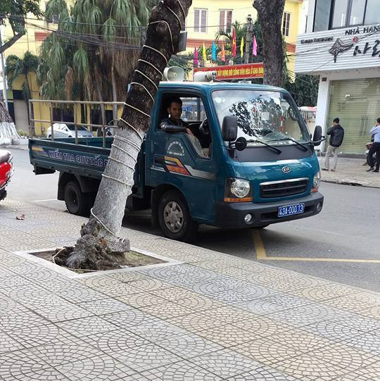 Chiếc xe đậu sai quy định do người dân cung cấp cho Phòng CSGT