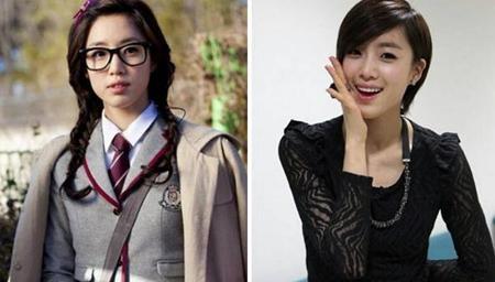 """Ngoài đời, Eun Jung để tóc ngắn nhưng trong bộ phim """"Bay cao ước mơ"""", cô ca sĩ nhóm T-ara đã có tạo hình tóc dài. Dễ dàng nhận thấy rằng Eun Jung trông hợp với tóc ngắn hơn nhiều."""
