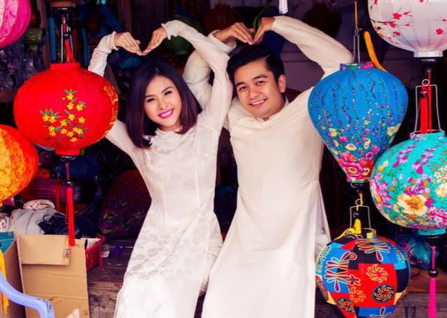 Vân Trang hạnh phúc bên chồng