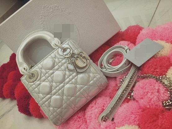 Hình ảnh chiếc túi hàng hiệu được Vân Trang chia sẻ trên trang cá nhân.