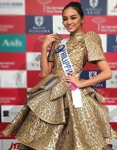 Bộ trang phục này còn được hoa hậu Philippines sử dụng trong phần trình diễn trang phục dân tộc.