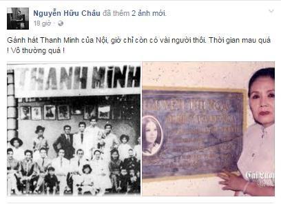 Nghệ sĩ Hữu Châu không nén được đau buồn khi lần lượt từng cây đại thụ của cải lương Việt Nam đã ra đi.