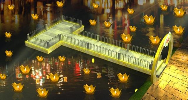 Để một đêm Trung thu trọn vẹn thì không chỉ có đi phố đèn lồng mà còn phải thả đèn hoa đăng ước nguyện.