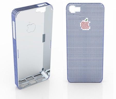 Chiếc vỏ bọc đá quý trị giá 100.000dành cho iPhone 5 của công tyNatural Sapphire
