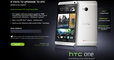 HTC trả tiền cho người dùng điện thoại cũ lên đời HTC One