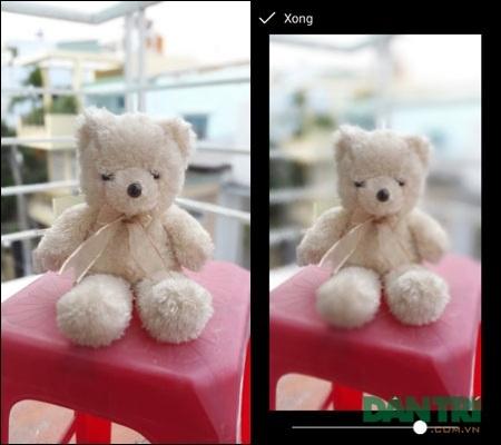 Sau khi chụp, bức ảnh sẽ xử lý (ảnh trái) và tạo ra bức ảnh hoàn chỉnh (ảnh phải).
