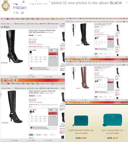 Những mặt hàng được giảm giá liên tục được cập nhật trên một trang bán hàng cá nhân.