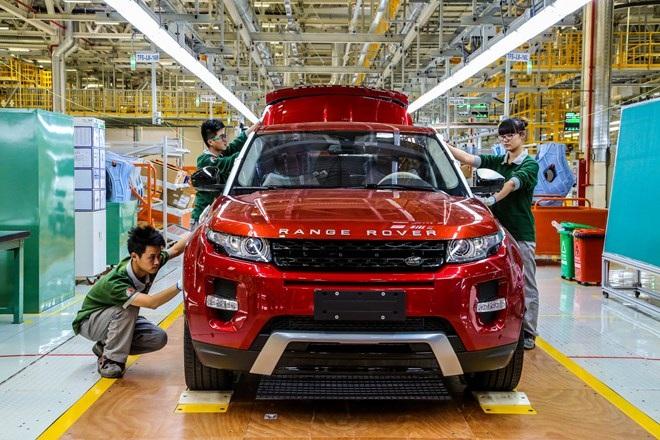 Dây truyền Land Rover Ecoque tại Trung Quốc
