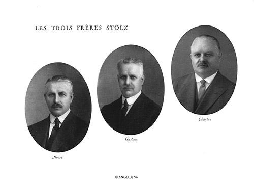 Năm 1891 anh em nhà chế tác Albert và Gustav Stolz đã đặt nền móng của nhà máy sản xuất đồng hồ Angelus tại Le Locle, Thụy Sĩ.