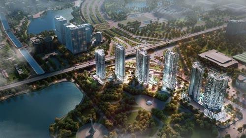 Phối cảnh dự án D'. Capital Trần Duy Hưng do Tân Hoàng Minh làm chủ đầu tư.
