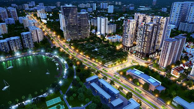 Phối cảnh dự án Việt Đức Complex 4 mặt tiếp giáp đường lớn