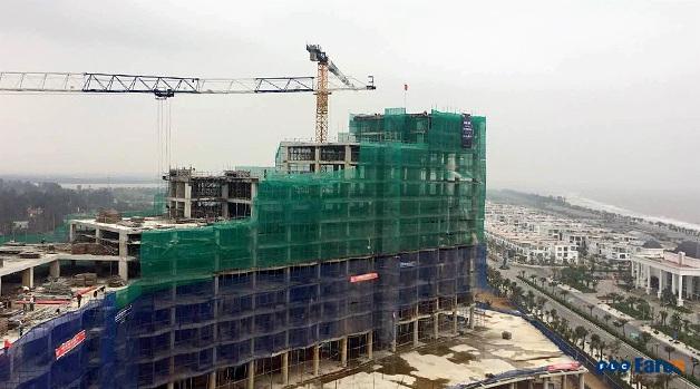 Với tiến độ thi công như hiện nay, FLC Grand Hotel sẽ khánh thành vào 30/4