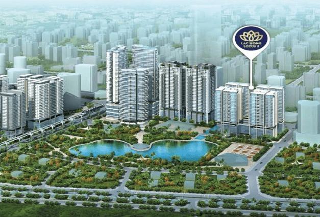 Lạc Hồng Lotus 2 sở hữu vị trí đắc địa trong KĐT Ngoại Giao Đoàn