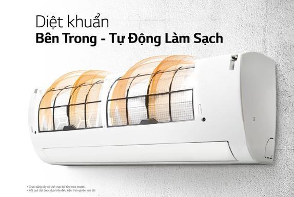 Lựa chọn điều hòa có tính năng tự động làm sạch như điều hòa LG để tránh thất thoát điện năng