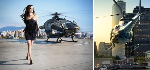 Bãi đáp trực thăng trên nóc tòa nhà Sunshine Center
