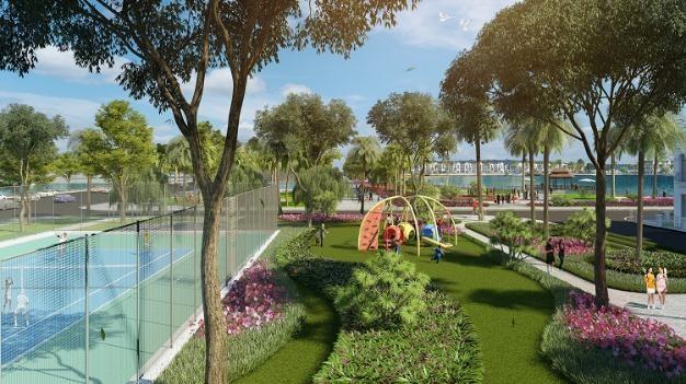 Tiểu khu Tulip kế cận nhiều nhất các sân chơi thể thao ngoài trời và công viên cây xanh