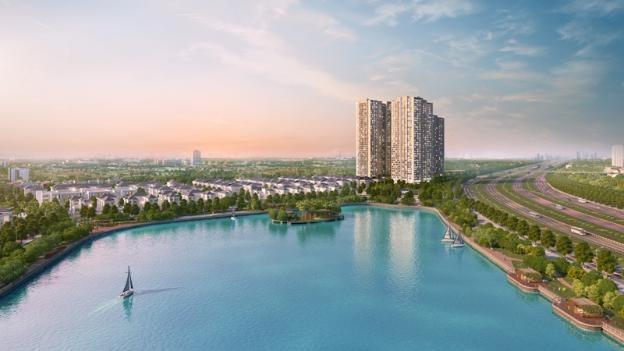 Vinhomes Green Bay – The Residence tọa lạc tại vị trí đắc địa giữa trung tâm hành chính phía Tây Hà Nội, đồng thời sở hữu 10,6ha không gian xanh với 8ha diện tích hồ điều hòa (hình ảnh minh họa)