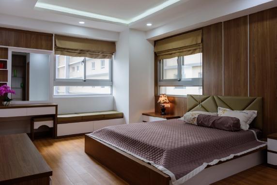 Một mẫu thiết kế phòng ngủ ấn tượng bên trong căn hộ