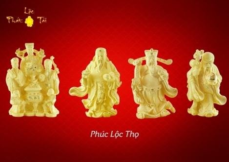 Bộ ba tam Tiên Phúc - Lộc - Thọ (còn gọi là Tam Đa) tiêu biểu cho ba hạnh phúc lớn nhất của con người: điều lành (Phúc), sự thịnh vượng (Lộc) và tuổi thọ (Thọ). Cả ba vị thần hợp lại tượng trưng cho những giá trị nhân văn tốt đẹp mà con người luôn hướng tới.