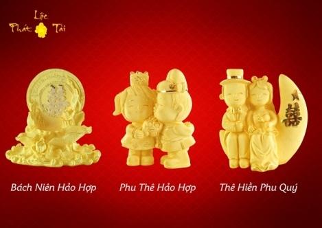 Hay món quà phong thủy thích hợp cho tiệc Hỷ của người thân với lời chúc Trăm năm hạnh phúc. Để tham khảo thêm về sản phẩm mỹ nghệ mạ vàng 999.9, truy cập ngay tại đây http://trangsuc.doji.vn/qua-tang-kim-my-nghe