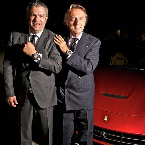 CEO Hublot, ngài Ricardo Guadalupe chụp hình cùng Chủ Tịch Ferrari, Luca Cordero di Montezemolo, đối tác chiến lược của Hublot.