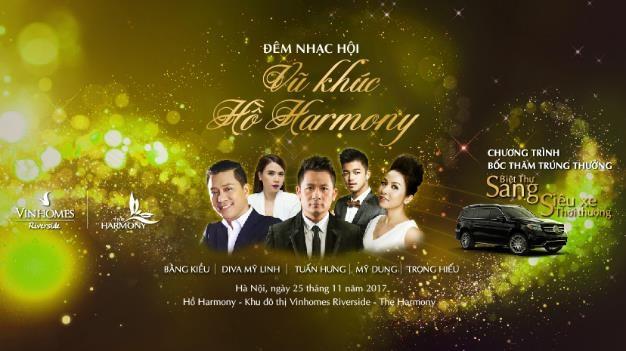 """Đêm nhạc hội """"Vũ khúc hồ Harmony"""" là sự kiện đầu tiên được tổ chức tại phân khu mới The Harmony"""