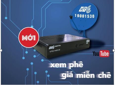 Bộ thu VTC HDV2 có tính năng kết nối Youtube