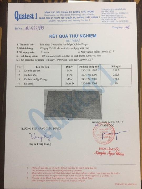 Bể tự hoại, bể phốt Composite Việt Hàn - Giải pháp mới thay thế bể phốt truyền thống - 2