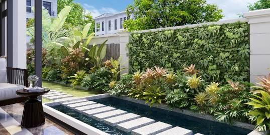 Bản vẽ sân vườn căn biệt thự nhà chị Huyền.