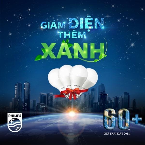 """Khẩu hiệu tràn """"chất xanh"""" trong chiến dịch Giờ Trái Đất của thương hiệu chiếu sáng hàng đầu tại Việt Nam"""