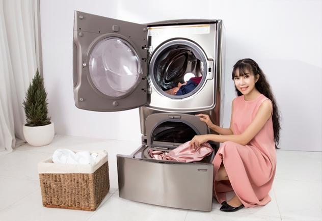 Ngoài ra, các model 2018 của máy giặt LG TwinWash còn có khối lượng sấy từ 7 – 12kg, phù hợp với nhiều gia đình hiện đại