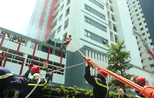 Diễn tập PCCC và cứu nạn cứu hộ tại The ONE Residence (Hoàng Mai, Hà Nội)