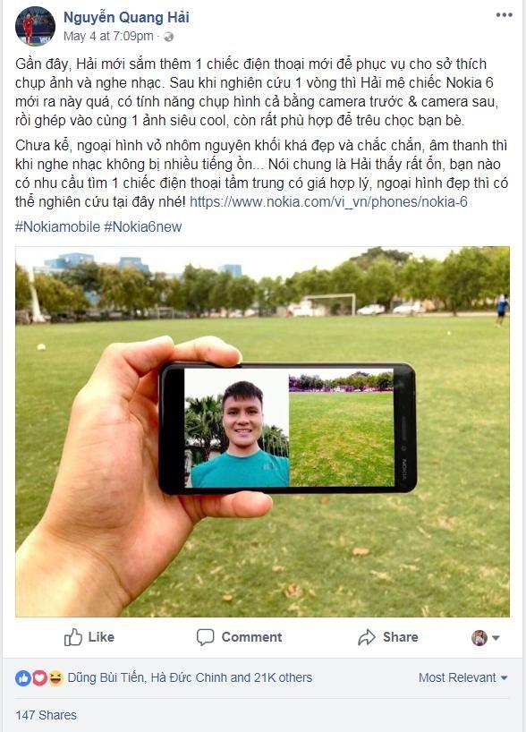 Nokia 6 mới ấn tượng mạnh mẽ với đội tuyển U23 Việt Nam - 3