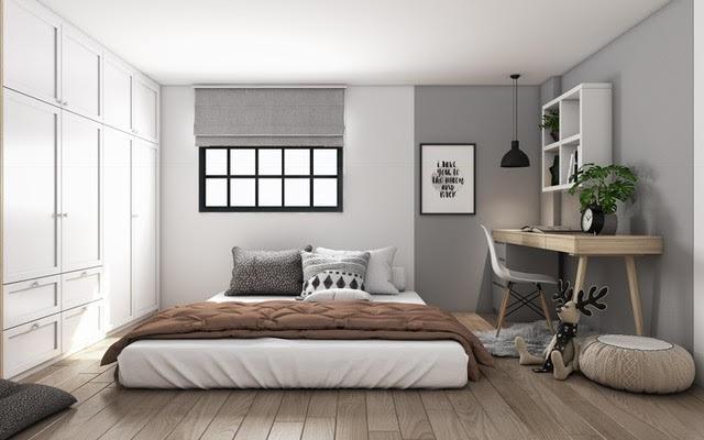 Dù diện tích nhỏ, tầng lửng vẫn có thể mang lại cảm giác thoải mái và riêng tư cho 2 vợ chồng trẻ.