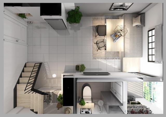 3 phương pháp thiết kế nội thất thông minh đầy đủ tiện nghi cho căn hộ 30m2 - 8
