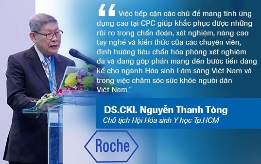 Phát biểu tại CPC 10, năm 2018, DS.CKI. Nguyễn Thanh Tòng nhận định giá trị CPC đem lại cho sự phát triển ngành Hóa sinh Lâm sàng Việt Nam.