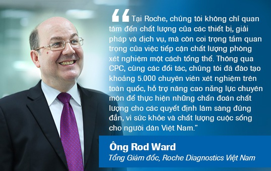 Ông Rod Ward, Tổng Giám đốc Roche Diagnostics Việt Nam chia sẻ về sứ mệnh và tâm huyết của Roche thông qua sự kiện CPC.