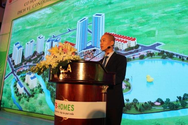 Ông Thân Thanh Dũng, Phó Tổng Giám đốc TTB Group giới thiệu về Dự án TBCO RIVERSIDE tại Hội thảo