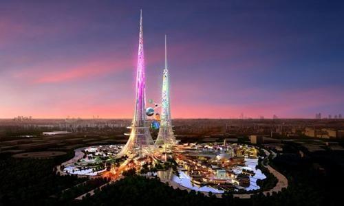 Tòa tháp Phoenix tại Vũ Hán được xem là cao nhất thế giới khi khánh thành