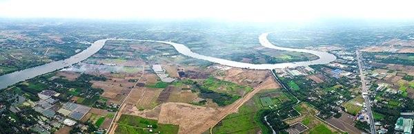 Tỉnh lộ 830 và sông Vàm Cỏ Đông cửa ngõ kết nối giao thông của Bến Lức, Long An