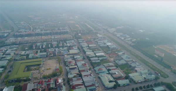Toàn cảnh KCN đô thị Bàu Bàng được quy hoạch đồng bộ.
