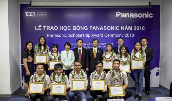 Học bổng thường niên của Panasonic cho sinh viên khối ngành kỹ thuật.