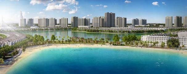 VinCity Ocean Park với điểm nhấn biển hồ nước mặn rộng 6,1ha độc đáo trong lòng thành phố