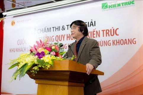 Chủ tịch Hội đồng giám khảo, Chủ tịch Hội Quy hoạch PTĐT Việt Nam – KTS Trần Quốc Chính phát biểu tại buổi lễ